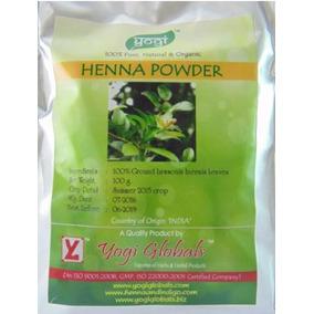 Henna Da Índia Powder Yogi 100g - Frete 9,50 P/ Todo Brasil