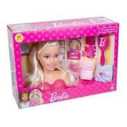 Boneca Barbie Faça Penteados Busto Com Acessórios Fashion