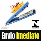 Prancha Chapinha Original Pro Nano Titanium 450° Rosa / Azul