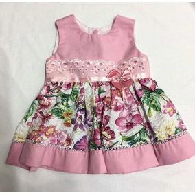 Kit 2 Peças Vestido Festa Infantil Criança Bebê