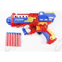Nerf Pistola Homem Aranha Arma Atira Dardos Spider Men