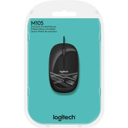Mouse Logitech Usb M105 Preto