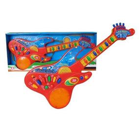 Guitarra De Juguete Con Teclas, Luz Y Sonido