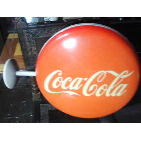 Cartel De Coca Cola Doble Faz 48 Cm. Diametro Plastico