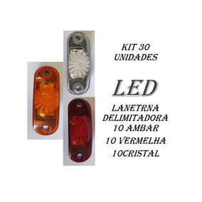 Lanterna Delimitadora Caminhao Carreta Reboqu Kit 30 Pcs Led