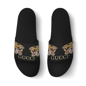 Chinelo Slide Beach Gucci Tigre Sandalia Rasteira Benassi!!!