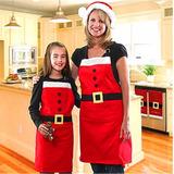 Delantal Mandil De Cocina Para Cena De Navidad Traje Santa