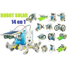 Robot 14 En 1 Solar Educativo Lego Terrestre Y Acuático