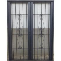 Puerta Reja Seguridad Colony Doble 200x200 Ventana Balcon