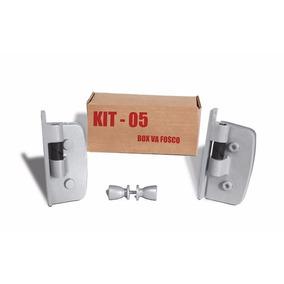 Kit 05 - Ferragem P/ Box De Abrir Vidro/alvenaria