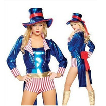 Sexy Disfraz Mujer Domadora Circo, Mago Halloween Y Envio