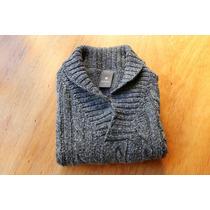 Sweater Mimo Lana Niño Talle 3 Gris Cuello V Excelente!!!!!!