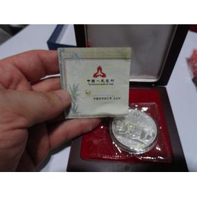 10 Yuan Onza Plata 999 Panda 2013 Unica En Caja Banco China
