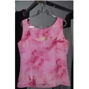 Blusa Rosa Ziper Invisível Frente - M