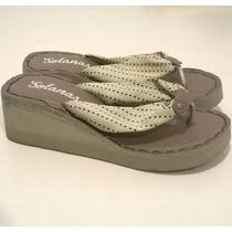 Sandalias Cotizas Altas Para Damas Talla 39 Suela 25,5cm