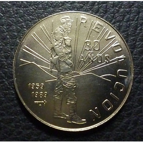 Cuba Moneda 1 Peso 1989, 30 Aniv. Revolución (fidel Castro)
