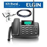 Telefone Rural Celular Fixo De Mesa Elgin Gsm 200 Dual Chip