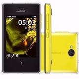 Nokia Asha 503 Preto Com Amarelo Wifi 5mp Original | Novo