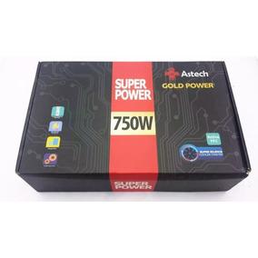 Fonte Atx 750w Pc Gamer Astech Gold Power Pcf Ativo