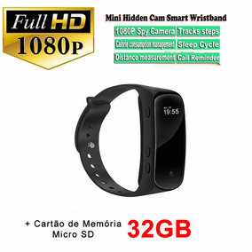 Relogio Bracelete Smart 32gb Câmera Oculta Full Hd 1080p