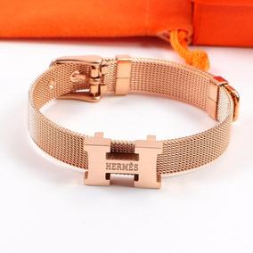 796202e22d2 Pulseira Bracelete Hermes Ouro Rose H Nova - Joias e Relógios no ...
