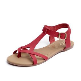 Zapatos Sandalias Huaraches Dama Zapatillas Moda Rojo 1204