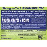 Tv Por Internet Megacel 700canales+futbol Prueba 2 Horas $ 2