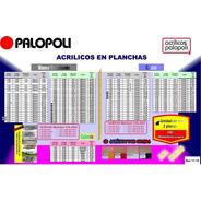 Acrilico Placa Esp 2.5mm 1.00x2.00 Blanco O Transp. Colada
