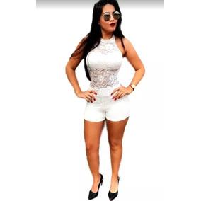 Macaquinho Rendado Modelo Marquezine Renda Blogueira Luxo