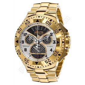 Relógio Invicta Excursion Crono Plaque Ouro 17470