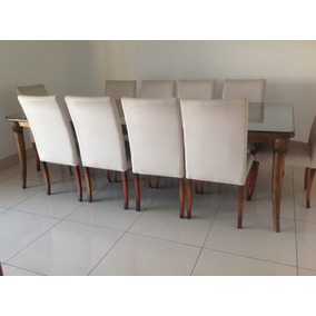 Sala De Jantar Sierra Móveis Com Mesa Dourada