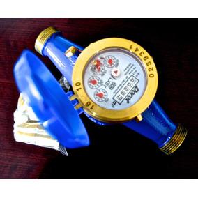 Medidor De Agua De 3/4 En Bronce Con Niples Coples Empaques