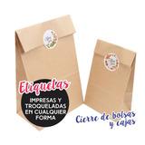 350 Etiquetas Cierre Bolsas, Stickers Calcomanias De 7x3 Cm