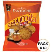 Galletitas Espumita Con Miel Y Cereales 300g Fantoche X12