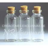 Frasquitos De Vidrio 55ml Con Corcho Ideal Souvenir