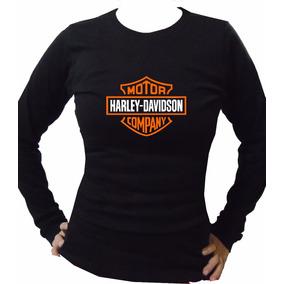 Playeras Harley Davidson Manga Larga Dama -envío Gratis