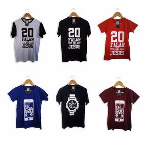 Camisetas Evangélicas Gospel Atacado Kit Com 10 Unidades