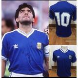 Camiseta Argentina Final Italia 90 Azul Maradona