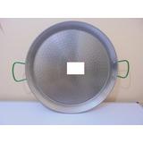 Paella Paellera Acero Pulido 50 Cm Diametro 13 Porciones.