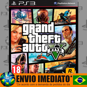 Gta V Gta 5 Ps3 Grand Theft Auto V Ps3 Psn Envio Agora