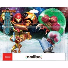 Amiibo Samus Aran & Metroid 2-pack Nintendo Switch Wii U 3ds