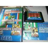 3 Juegos En 1 Original Sega Genesis Con Manuales