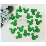 Apliques Minnie Mickey Strass Decoracion Safari Selva Verde