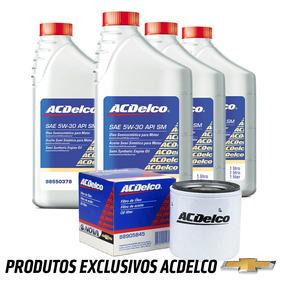 Kit Troca Oleo 5w30 Sm E Filtro Acdelco Gm Original Promoção