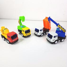 Paquete 4 Camioncitos De Trabajo Friccion Juguete Divertido