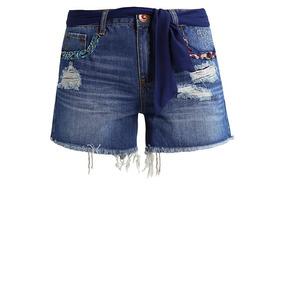 Short Jeans Nuevo Bordado Desigual 38 Envío Gratis