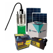 Kit Bomba Sumergible Solar De Acero Inoxidable + Bateria Solar 45ah + Panel De 150 Watts + Regulador 20a 720 Litros/hora