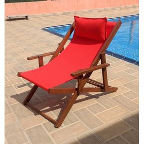 Cadeira Espreguiçadeira Em Madeira