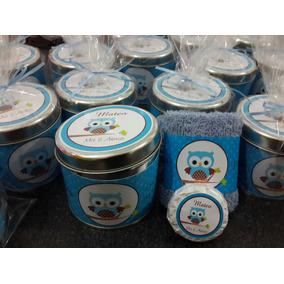 30 Latas Personalizadas Con Toalla Y Jabon Nacimiento
