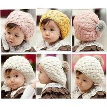 Gorro De Crochet Con Borla Unisex Para Bebés Y Niños